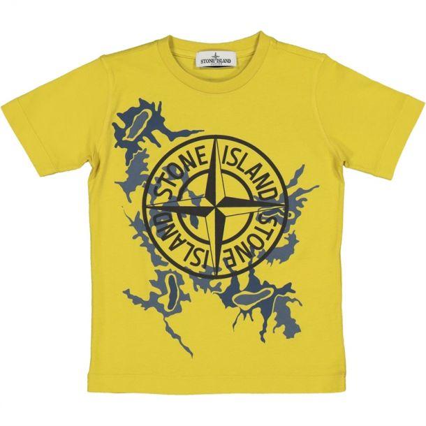 Boys Mustard Camo T-shirt