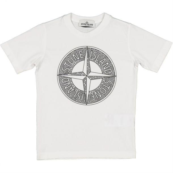 Boys White Compass T-shirt