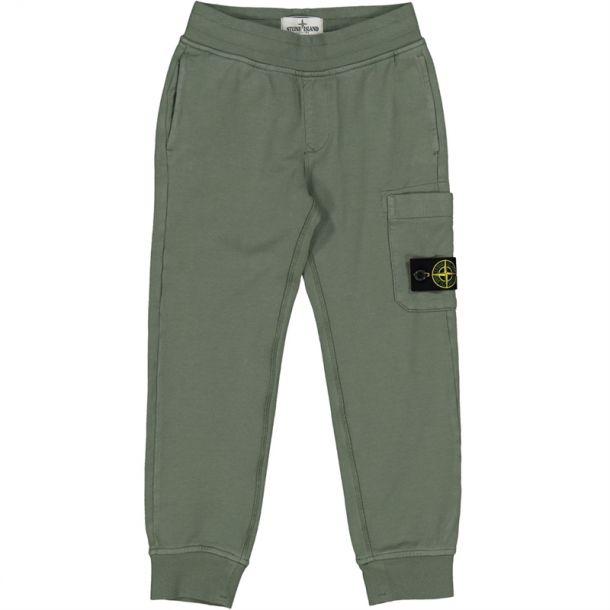 Boys Khaki Badge Track Pants