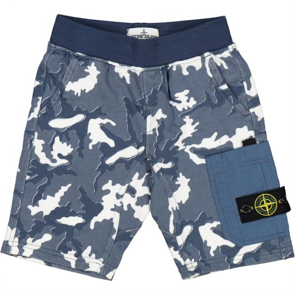 Boys Blue Camo Jersey Shorts