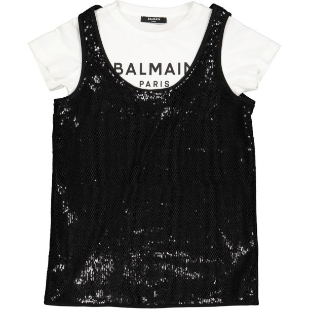 Girls Sequin Slip & T-shirt