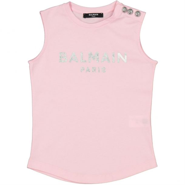 Girls Pink Branded Top