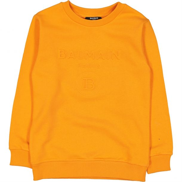 Boys Orange Embossed Sweat