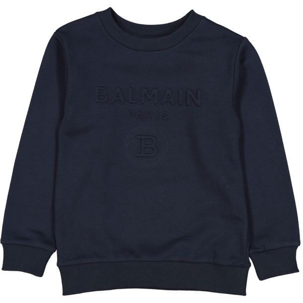 Boys Navy Embossed Sweat