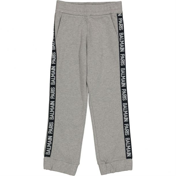 Boys Grey Tape Track Pants