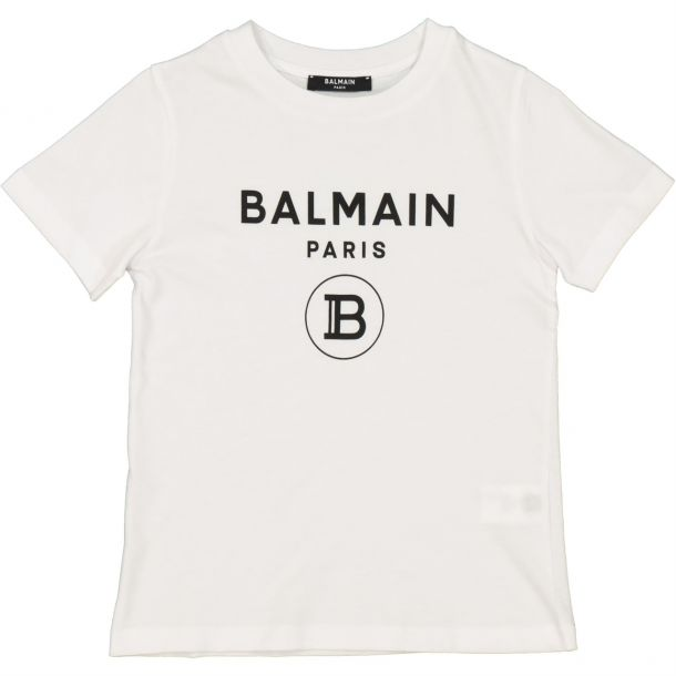 Boys White Branded T-shirt
