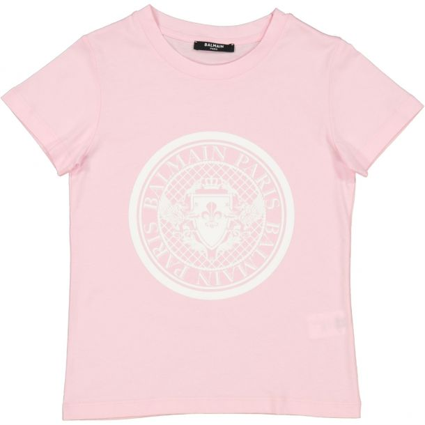 Girls Pink Branded T-shirt