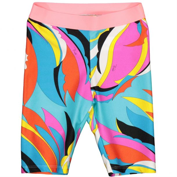 Girls Pucci Print Cycle Shorts