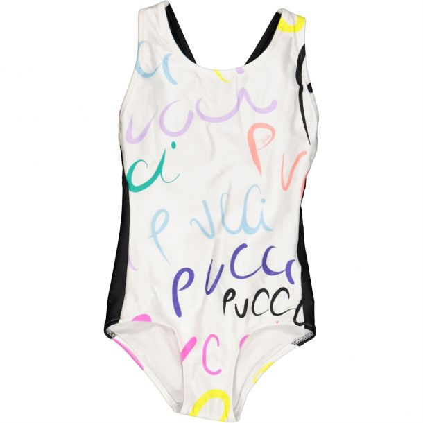 Girls Pucci Branded Swimsuit