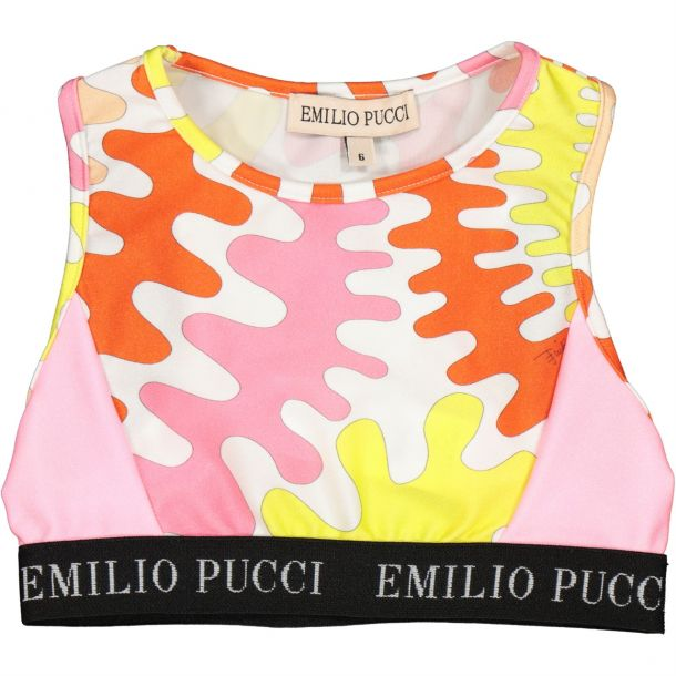 Girls Pucci Print Crop Top
