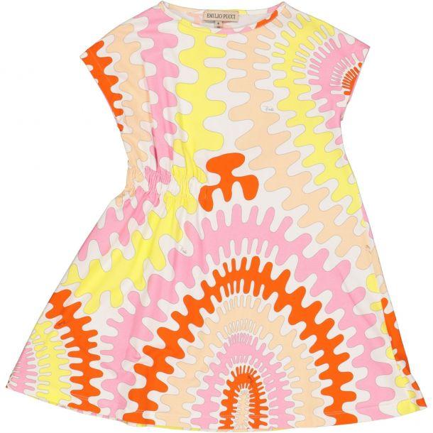 Girls Pucci Print Jersey Dress
