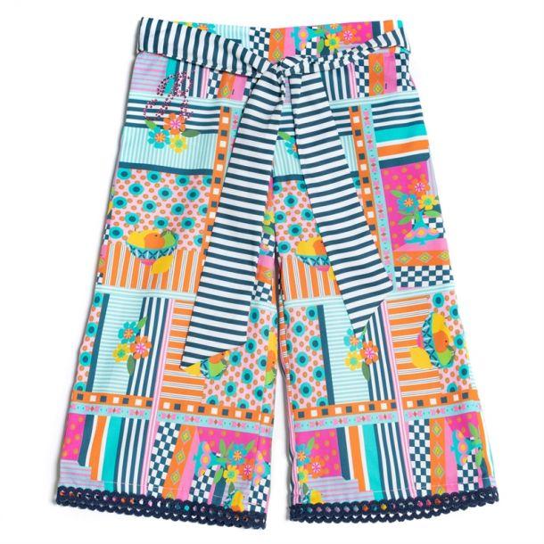 Girls Algonquin Print Trousers