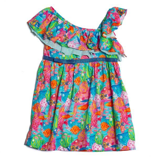 Girls Banff Fish Print Dress