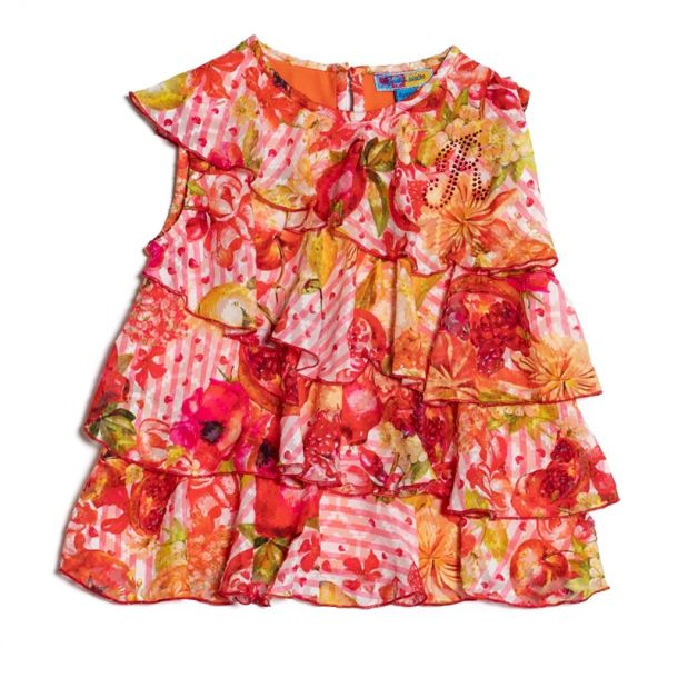 Girls Clure Fruit Print Blouse