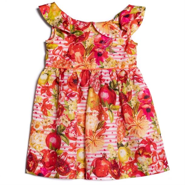 Girls Clure Fruit Print Dress