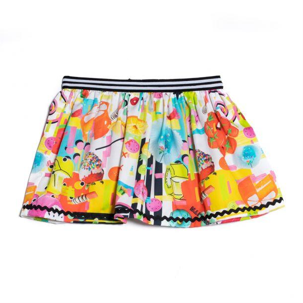 Girls Granville Print Skirt