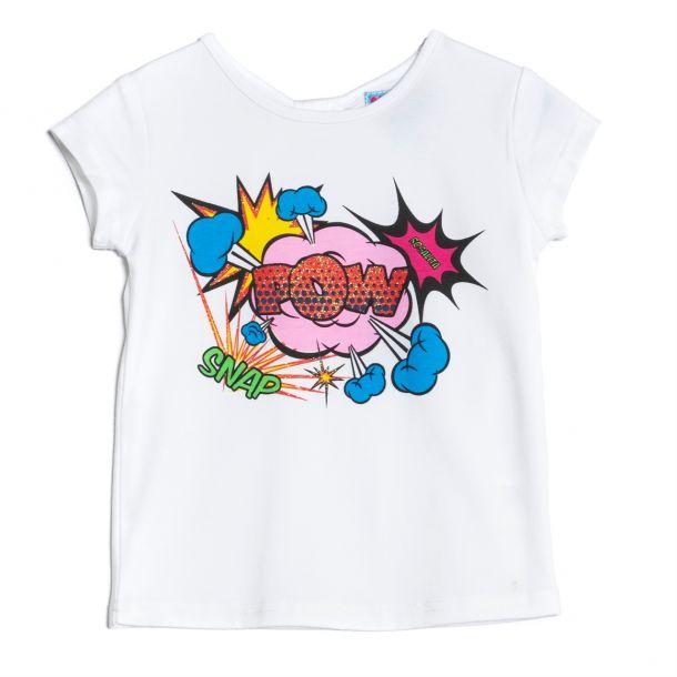 Girls Martre Pow Print T-shirt
