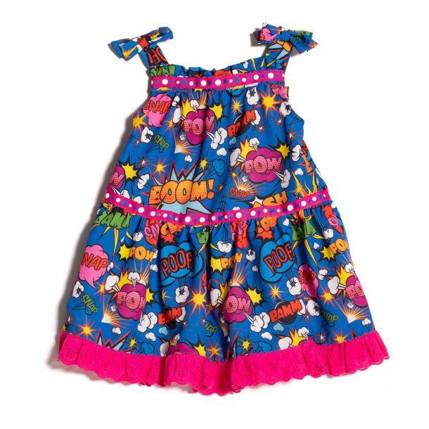 Girls Martre Print Dress