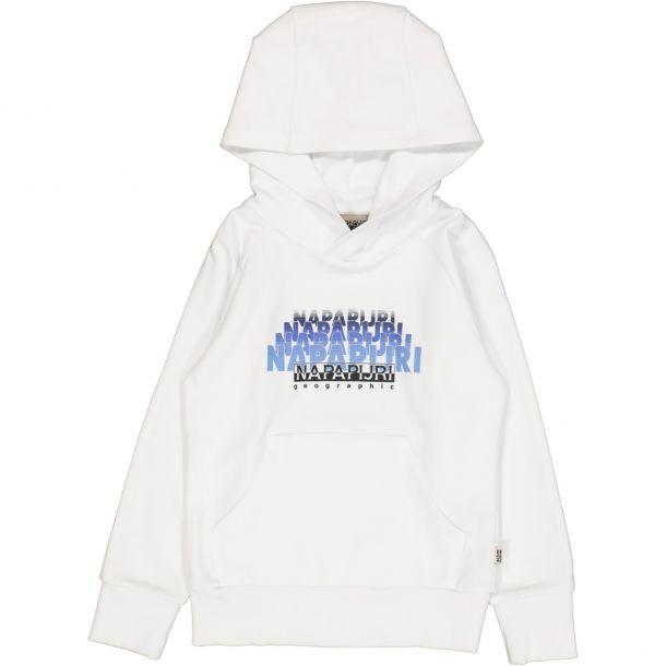 Boys White Logo Hoodie