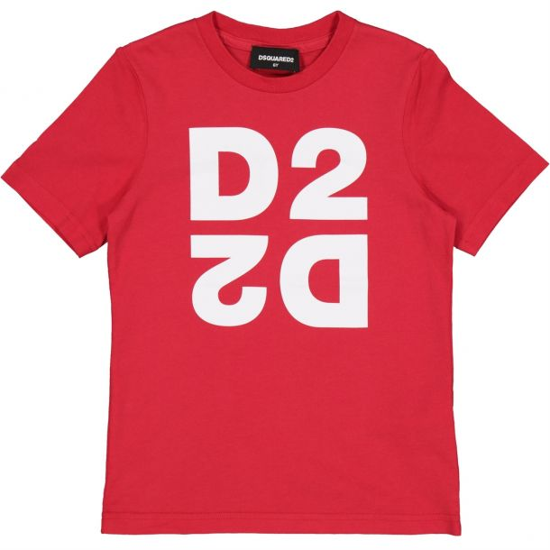 Boys Red Double 'd2' T-shirt