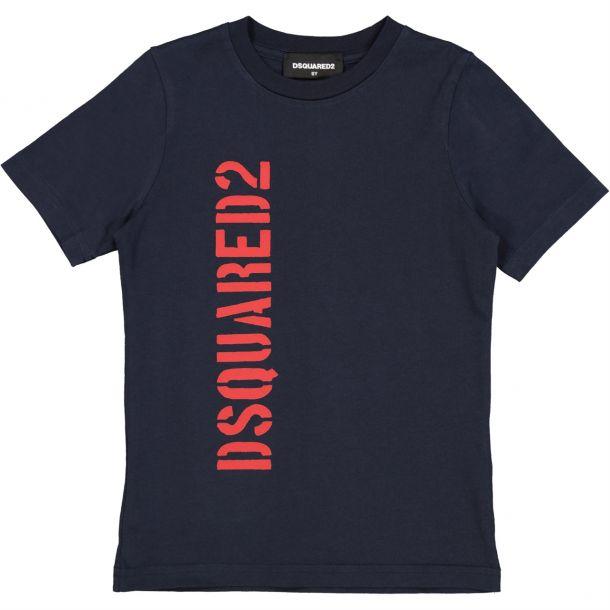 Boys Navy Dsquared T-shirt