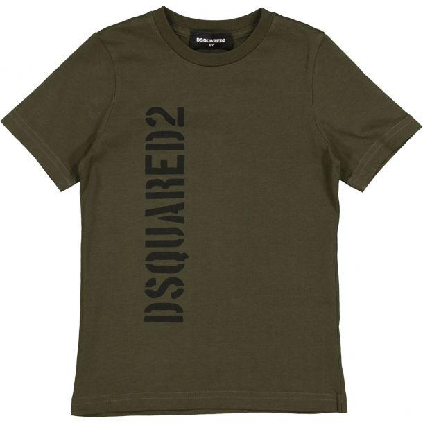 Boys Khaki Dsquared T-shirt