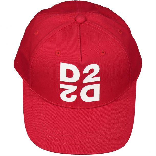 Boys Double 'd2' Red Cap