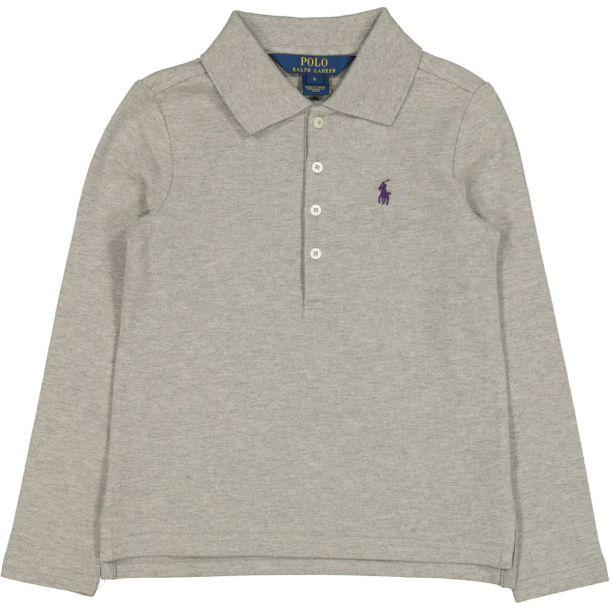 Girls Grey Classic Polo