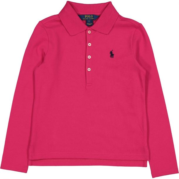 Girls Pink Classic Polo
