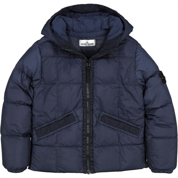 Boys Navy Blue Down Padded Jacket