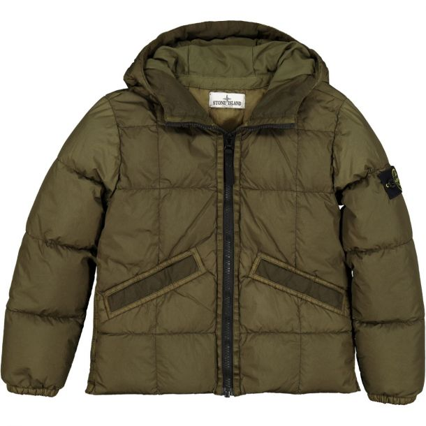 Boys Green Down Padded Jacket