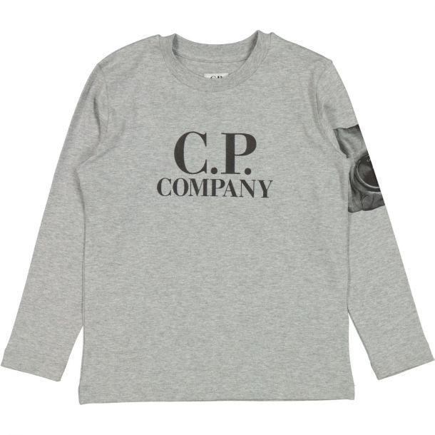 Boys Grey Branded Jersey T-shirt