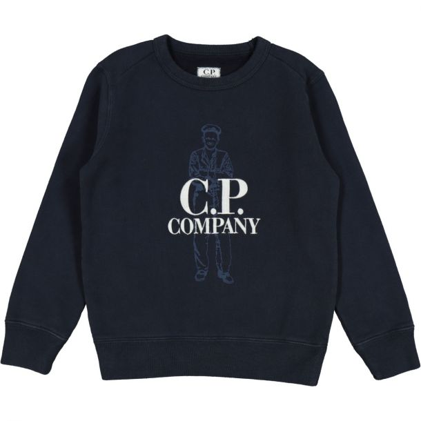 Boys Navy Branded Sweatshirt