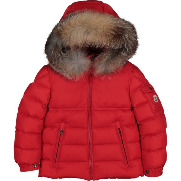 Boys Red 'New Byron' Down Jacket