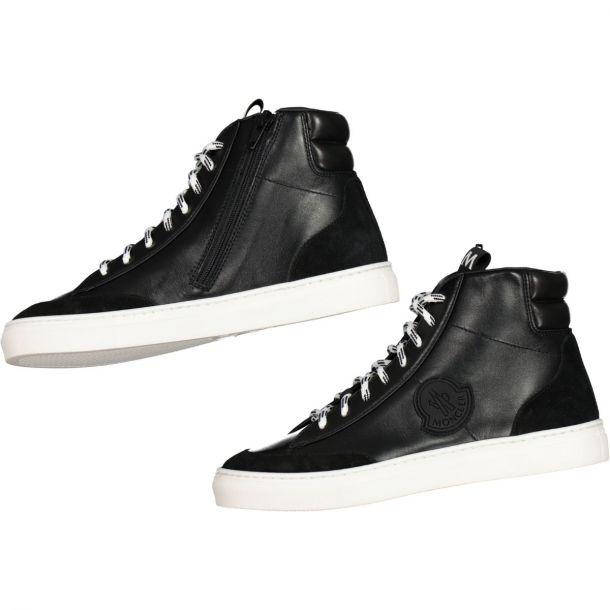 Moncler Black Branded High Top