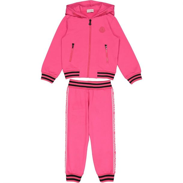 Girls Pink Branded Tracksuit