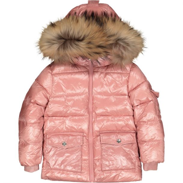 Girls Authentic Pink Down Jacket