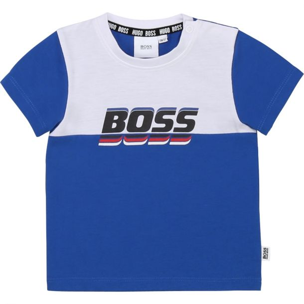 Baby Boys Blue & White T-shirt