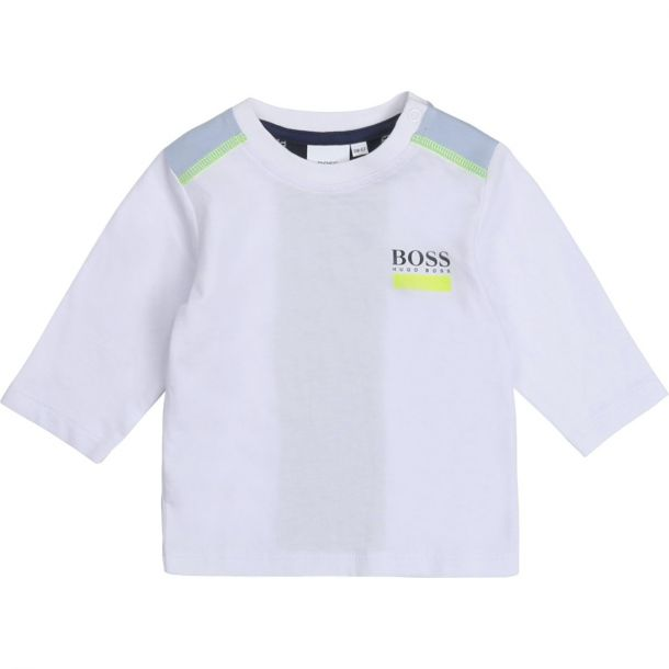 Baby Boys White Logo T-shirt