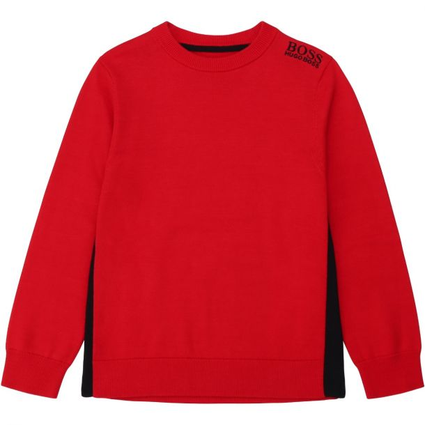 Boys Red Cotton Sweater