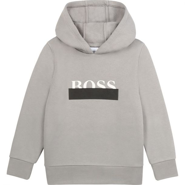 Boys Grey Hooded Sweatshirt