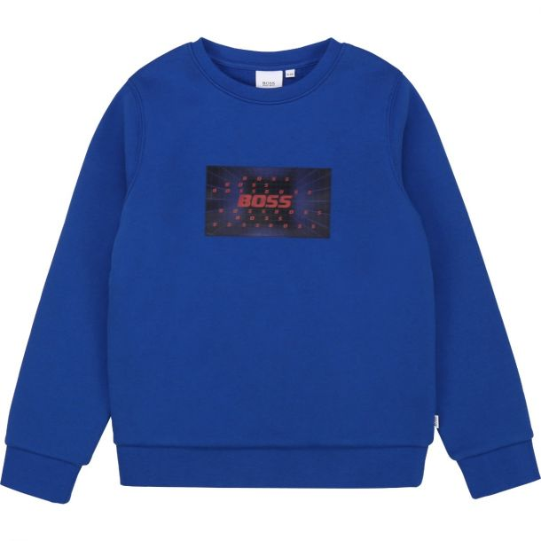 Boys Blue Logo Sweatshirt
