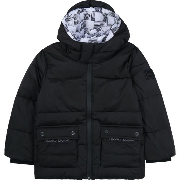 Boys Black Puffer Jacket