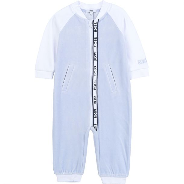 Baby Boys Pale Blue Romper