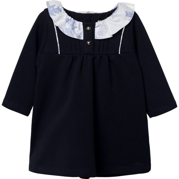 Baby Girls Chloe Navy Jersey Dress
