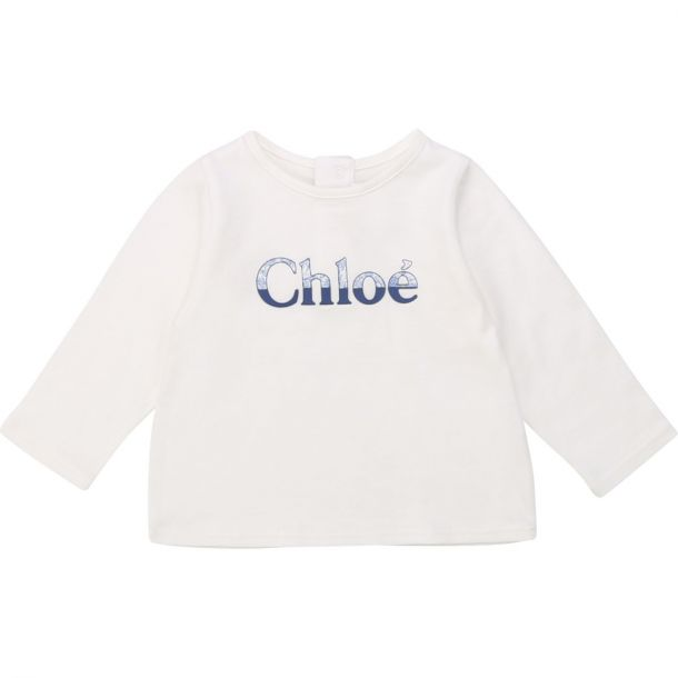 Baby Girls Chloe White Logo T-shirt