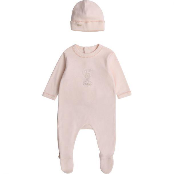 Baby Girls Chloe Romper And Hat Set