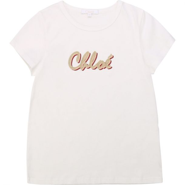 Girls White Logo T-shirt