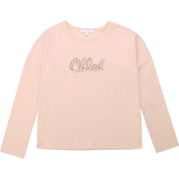 Girls Pink Long Sleeve T-shirt
