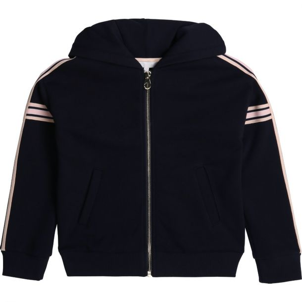 Girls Navy Logo Zip Up